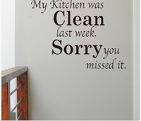 Wholesale vinyl wall quotes for kitchen - warming kitchen rules home decor creative quote wall decal decorative adesivo de parede removable vinyl wall sticker