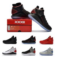 Wholesale Corsa Black - New Air Retro 32 Basketball Shoes Black Rosso Corsa Men Retros 32s XXX2 Flights Speed Crack Banned Triple Original Sports Shoe Snea