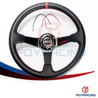 Wholesale Auto Stores - PQY STORE- Leather SPA Car Steering Wheel Racing Steering Wheel Deep Auto Steering Wheel 350mm Leather Steering Wheel PQY-SW31LR