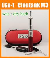 Wholesale Ego M4 - Cloupor Cloutank M3 Kit Ecig Cloutank m3 Atomizer For Dry Herb Wax Cloutank ego t Battery E Cig Kit vs Cloutank M4 Ecig Vaporizer pen CA0529