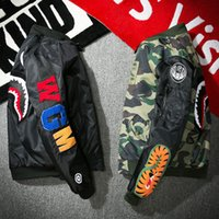 Wholesale Green Printing Services - Wholesale -Spring and autumn Jacket Men WGM Embroidery Shark MA1 Air Force Flight Jacket Male Baseball Service US Air Force Pilot Jacket