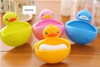space soap - Small Space Big Role Soap Box Bathroom Accessories Multifunctional Storage Lovely Duck Soap Dish Soap Holder