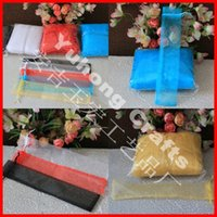 Wholesale Silk Organza Gift Bags - 200pcs lot Transparent Soft Organza Bags with Silk Drawstring for Fan Can be Customized Color Beautiful Gift Bag package for Hand fan