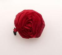 Wholesale Hot Red Color Pretty Rose Foldable Eco Reusable Shopping Bag cm x38cm