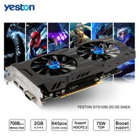 Wholesale Graphics Card Wholesalers - High performance Yeston GeForce GTX 1050 GPU 2GB GDDR5 128 bit Gaming Desktop computer PC support Video Graphics Cards DHL Free shipping