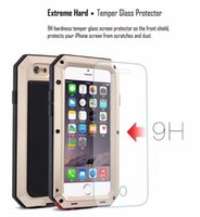 Metal Extreme Shockproof Militar Heavy Duty Tempered Glass Cover Case Skin para Apple iPhone 6 / 6S Iphone caso de smartphone