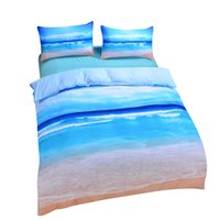 Wholesale Cheap King Beds - Wholesale-Dropshipping Beach And Ocean Home Textiles Hot 3D Print Comforters Cheap Vivid Bedding Set Twin Queen King Wholesale