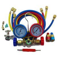 Wholesale Ac Manifold - R134a R22 AC Manifold Pressure Gauge Hose Set for Automotive Air Conditioner Refrigeration