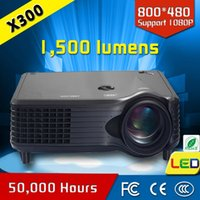 Wholesale Choice Films - Wholesale- LCD projector led 1500 lumens 800*480p film theater for best choice at home,support wifi with android stick projector