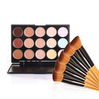 Professionelle Kosmetik Salon / Party 15 Farben Tarnung Palette Gesichtscreme Make-up Concealer Palette Make-up Set Tools mit Pinsel 48pcs