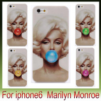 "Wholesale Blow Plastic Bubbles - Sexy Marilyn Monroe Blowing balloons Bubble Gum For Iphone 6 plus 4.7"" 5.5"" 5S Case Plastic Hard Phone Cover cases"