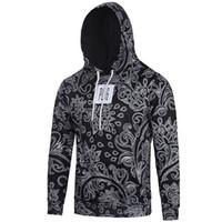 бесплатная доставка usa одежда оптовых-# L6091 США Европа стиль мужская модная одежда 3D цифровая печать с капюшоном с длинным рукавом причинные свитера топы тис бесплатная доставка