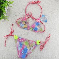 Wholesale Child Bikinis For Sale - FINAL SALE!!! For 2-10Y Girls Swimwear Princess girls Bikini Children Swimsuit Kids Tankini Bathing Suit Beachwear