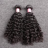 hintli kıvırcık örgü toptan satış-Bella Hair® Sınıf 8A 8-30 inç 100% Işlenmemiş Hint Bakire Saç Örgü Atkı Doğal Renk Kıvırcık Saç Uzatma 2 Demetleri Ücretsiz Nakliye