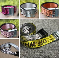 Wholesale Hip Belts For Women - OFF WHITE Belts Brand Men Extend Long 200CM Yellow silver 10color Belt for Women Hip hop Streetwear Skateboards Virgil Abloh Industrial belt