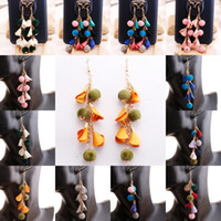 Barato Brincos Apoio-Wholeasle Flower Wool Tassel Earrings 8 Styles Charm Accessory For Girl Gift Aniversário Gift Support FBA Drop Shipping D193S
