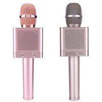 ingrosso karaoke marche microfono wireless-Nuovo marchio Q10S Wireless Bluetooth Microphe Karaoke Music Tool Stage Performance Wireless microfono altoparlante per telefoni