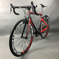 Wholesale Complete Bike Road - Complete Full Carbon Fiber Road Bike Racing Cycling Leadnovo Black-Red-White with 9 10 11 speed
