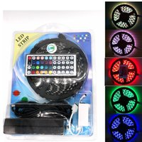 Wholesale dc controller pcb resale online - 5050 DC12V LED m M Roll White Black PCB RGB LED Strip Waterproof Non Waterproof M Strip key IR Remote Controller V A Adapter