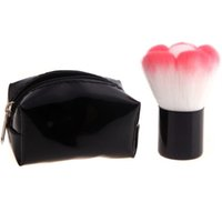 Wholesale Powder Mushroom - Kabuki Mushroom Blush Powder Makeup Brush with Black Bag 25mm