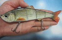 Wholesale Multi Jointed Fishing Lures - Big Size 152mm 36g Lifelike Multi-jointed Bass Pike Fishing Lure Crank Bait Swimbait Shad Minnow Fish Hook Fishing Tackle
