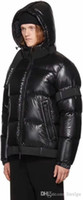 Wholesale High End Down Coats - Free Shipping New high-end men's wholesale down jacket men's baseball jacket coat fluffy black warm jacket ski suits