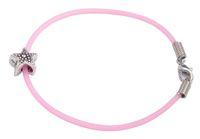 Wholesale Cute Kids Bracelets - 12PCS Cute Bead Charm PINK Rubber Cord Kid Bracelets #92185