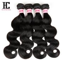 Wholesale 7A Peruvian Hair Bundles Body Wave Human Hair Unprocessed Virgin Hair Bundle Deals Peruvian Body Wave HC Hair