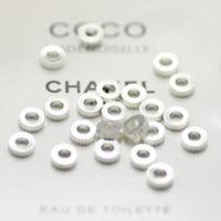 ingrosso perline di ottone per la fabbricazione di gioielli-perlina d'argento del branello rotondo del metallo per il braccialetto della collana dei gioielli che fa la ruota popolare del mestiere dei gioielli di Diy popolare pesante 6mm 100pcs / lot