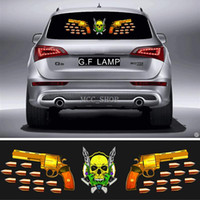 90 * 25cm Car Sticker Music Rhythm GF-ML-45 LED Flash Light Sound attivato equalizzatore