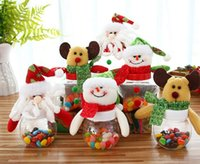 Wholesale Happy New Year Gift Boxes - Christmas candy jar small round five-star doll candy box candy box 6 style 2017 happy new year gift America and Europe pop