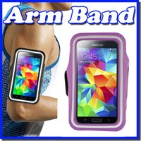 Wholesale Arm Pocket Armband - For iphone 6S Plus note3 4 Waterproof Sports Running Armband Case Workout Armband Holder Pounch For iphone Cell Mobile Phone Arm Band
