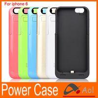 Wholesale Iphone Jacket Case - 3500mAh Power Bank Back Outer Jacket protective backup Battery Case charger Phone Stand for iPhone6 4.7 inch iphone 6 wholesale