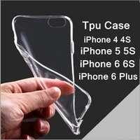 """Wholesale Iphone 5c Slim Rubber Case - 0.3mm Ultra Thin Slim Soft Silicone Rubber Clear Transparent TPU Gel Case For iphone 4S 5C 5S 6 Plus 5.5"""" Case"""