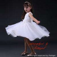 Wholesale Kids Fashion Wedding Dresses - Pettigirl Newest Kids Girls White Dress For Wedding Fashion Girls Party Dress Factory Price Children Vestidos Free Shipping GD80905-21