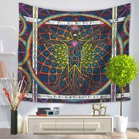 Colorful Tapestry Indian Sun Tapestry Wall Hanging Tiro Boemia Tenda per porte 150X130cm Tapiz Mandala Tapestry Wall Hanging