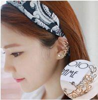 Wholesale Ear Cuffs For Sale - Top Grade Silver ear cuff Hot Sale Fashion Flower Earring Crystal Earring For Women Girl Jewelry Wholesale Free Shipping - 0054WR