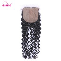 Wholesale Indian Remy Silk Top - Silk Base Closure Peruvian Indian Malaysian Brazilian Top Lace Hair Closure Unprocessed Remy kinky curly Virgin Hair Extensions