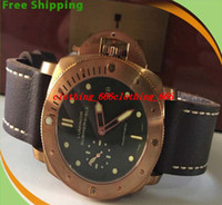 Wholesale Man Submersible Watches - Luxury Men Watch Top quality Luxury Submersible 382 00382 382 Gold Green Dial Automatic Mens Men's Watch Watches