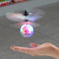 Wholesale gopro led light - Inductive Whirly Balls Infrared Controlled Flash LED Flying Balls Drones Night Lights Induction Aircrafts Drones for kids christmas gifts