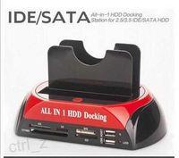 "Wholesale Esata Ide Dock - 2.5"" 3.5"" SATA   IDE 2 Double - Dock HDD Docking Station e- SATA   Hub External Storage Enclosure Parts"