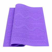 Wholesale Silicon Lace Mat - Silicone Mat Fondant Cake Decorating Styling Tools Kitchen Silicone Lace Mold Flower Pattern Silicon Baking Mat DIY Fondant Mold