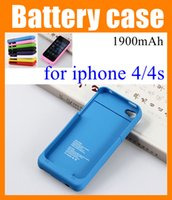 Wholesale Iphone 4s External Case - for iP4 iphone 4 4s iphone4 1900mAh battery back power banks charger case cover Cell Phone Chargers External Battery Case iphone BAC001