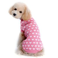 Wholesale Love Pink Clothing Sweaters - Wholesale-Hot sale Pink New Small Pet Dog Cat Winter Warm Christmas Love Sweater Knitwear Puppy Coat Outwear Apparel Clothes