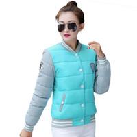 Wholesale Korea Slim Women Coat - Wholesale- 2017 New winter jacket women Korea fashion uniform warm jackets winter coat women cotton female parkas Women's winter jacket