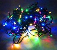 Wholesale Solar Power Flash Light - 2015 Multicolour 18M 100 LED Solar String lights Party Home Decor fairy Lights LED flash light solar power outdoor christmas Holiday wedding