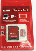 Wholesale Micro Sd 64gb Ship - 32GB 64GB 128GB Class 10 UHS-I Micro SD TF Memory Card Free SD Adapter Blister Package micro SD SDHC Card epacket hkpost ship