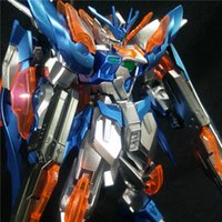 Wholesale Bandai Gundam 144 - Manual Plating color series BANDAI Wing gundam zero Honoo 1 144 model 13 CM Robot Puzzle assembled boy toys Anime Holiday gifts
