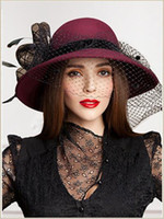 Wholesale Hats Feathers For Women - Wedding Hats Special Event Styles Hats Fascinator Hats For Women Church Hats Fashion Women Caps Flower Sinamay Feather Hats