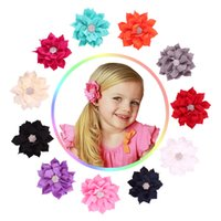Xmas Lotus Flowers Hair Pins Lady Girl Baby Color Color Stage Performance Accessori per capelli 11 colori